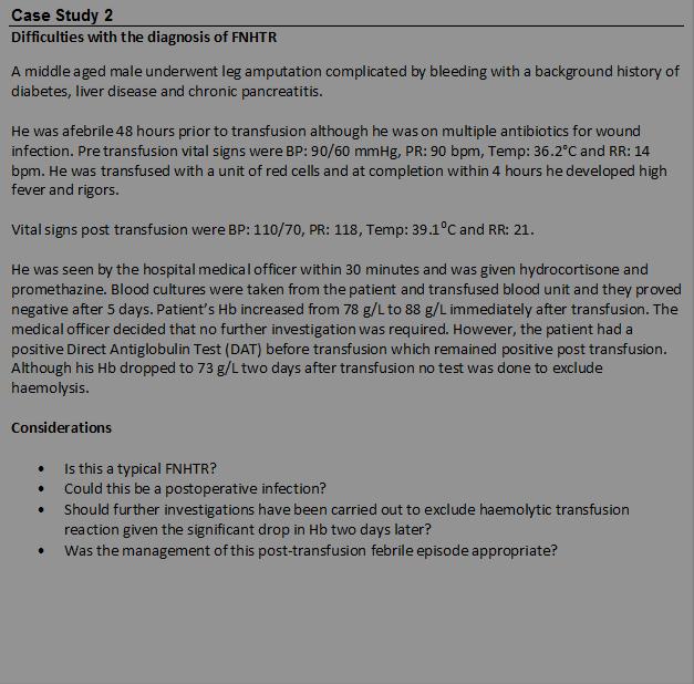 Case Study Snackbrands Australia: Australian Haemovigilance Report : PART 04 HAEMOVIGILANCE