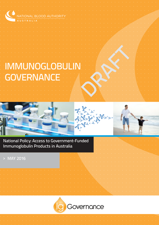 Picture of the 2016 Immunoglobulin Governance Policy cover draft