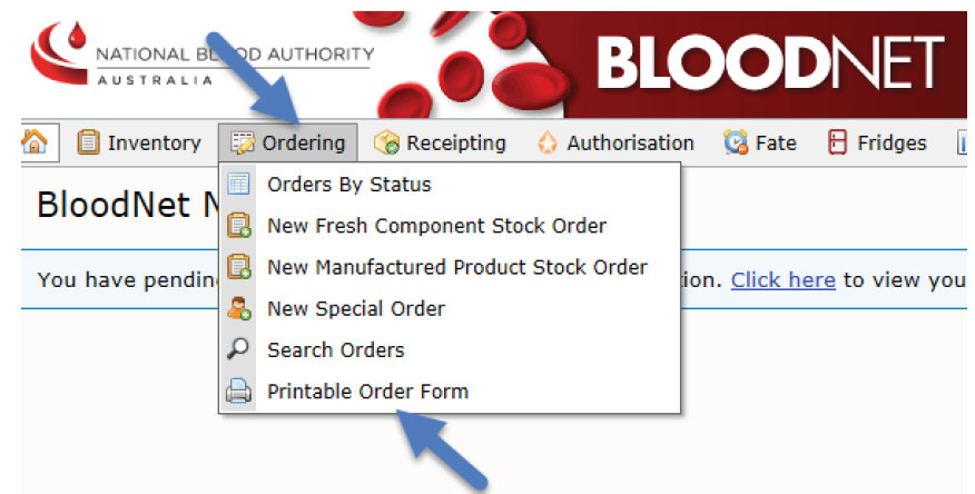 Image of Bloodnet ordering during outages