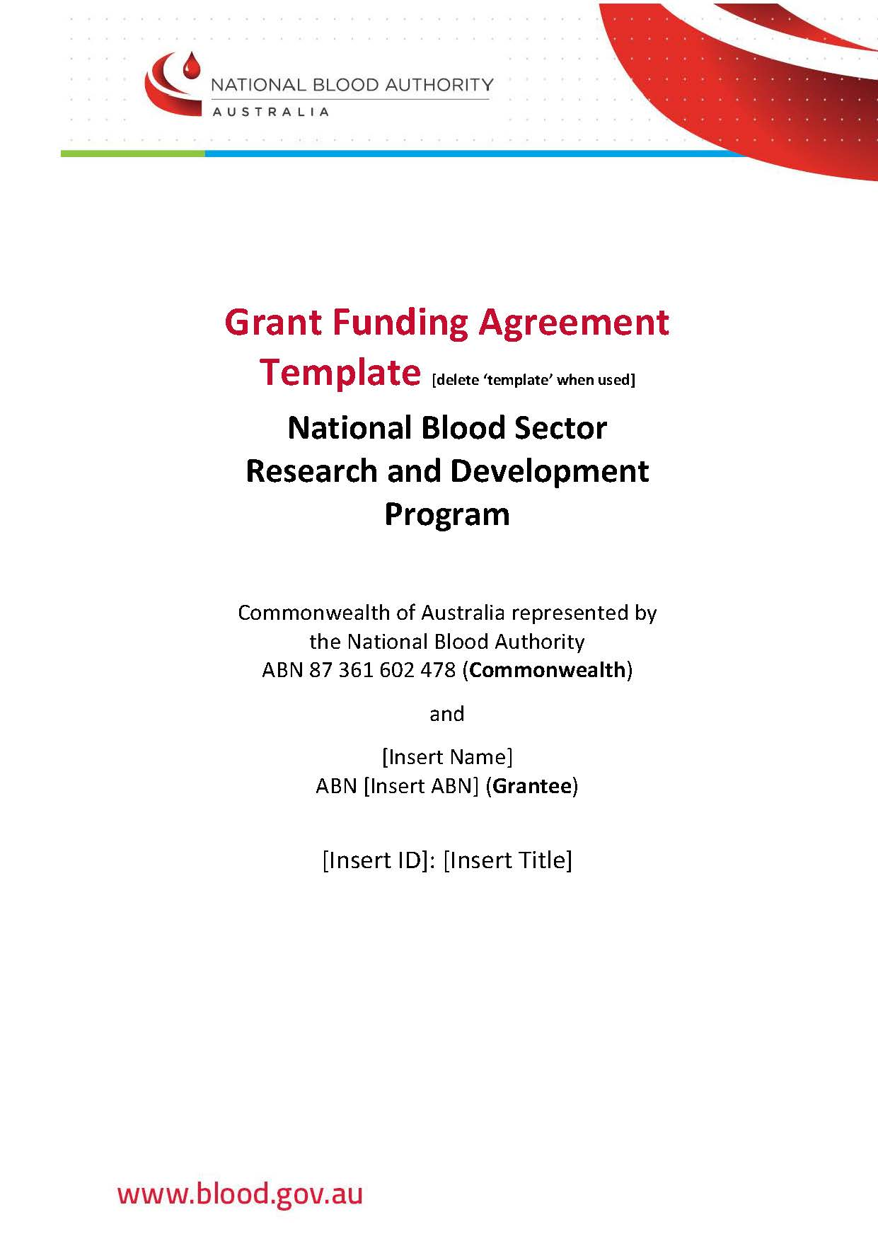 Grant Funding Agreement for Project and Seed grants