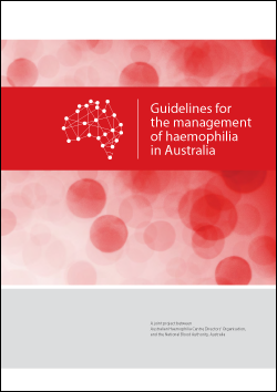 cover of Guidelines for the management of haemophilia in Australia