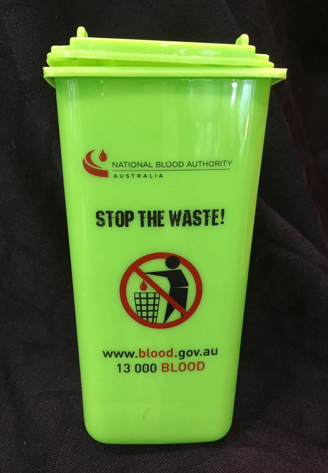 Stop the waste wheelie bin pen holder