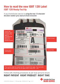 ISBT128 Label Guide barcode