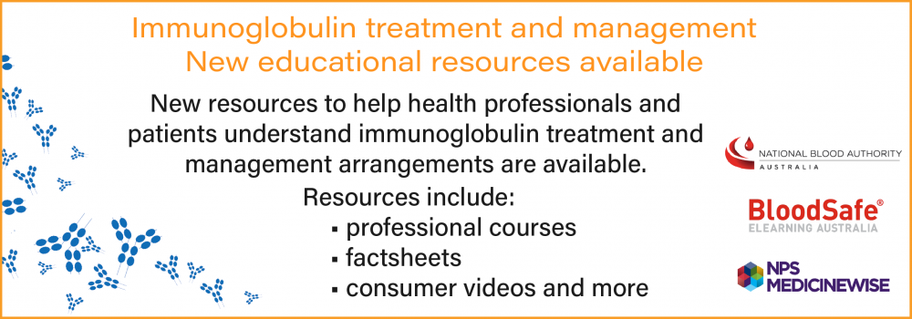 New Bloodsafe eLearning Australia Immunoglobulin courses launched