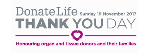 Donate life thank you banner