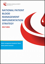 Image of National Patient Blood Management Strategy 2017-2021 cover
