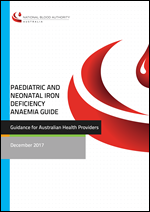 Cover image of Paediatric and Neonatal Iron Deficiency Anaemia Guide