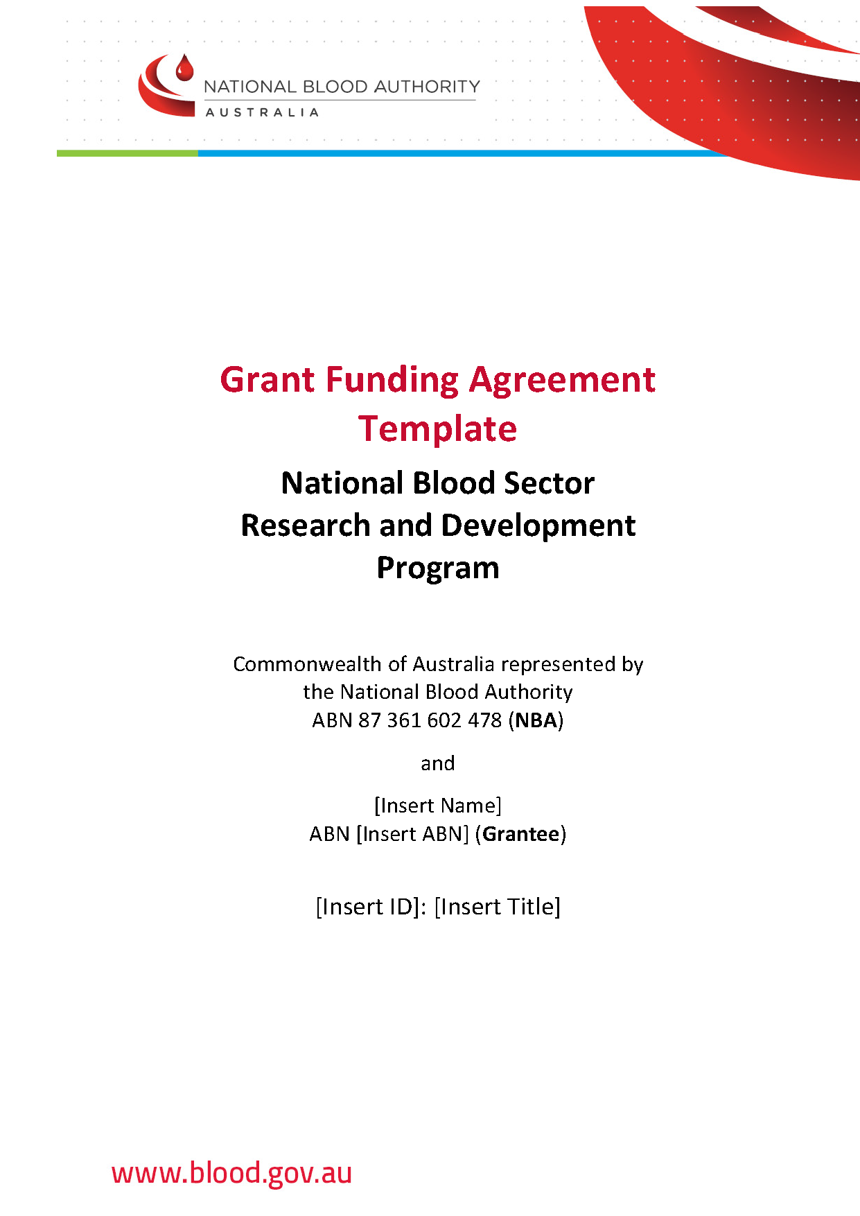 Image of round 4 Grant Funding Agreement template