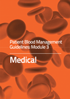Image of front cover of Module 3 Patient Blood Management Guidelines Medical