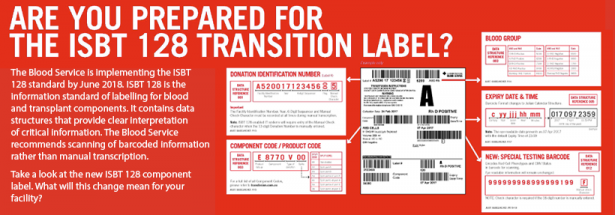 Image for the ISBT 128 Transition Label