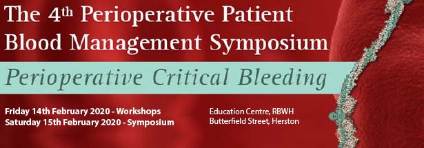2020 Perioperative Patient Blood Management Symposium