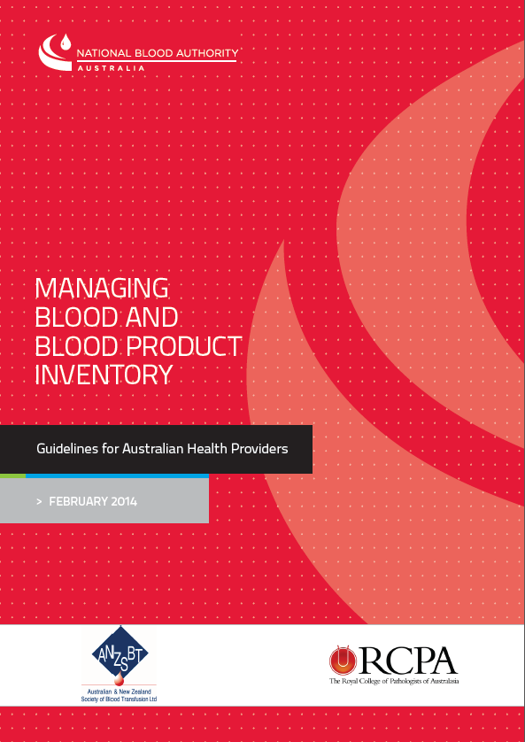 Title Page Managing Blood and Blood Product Inventory
