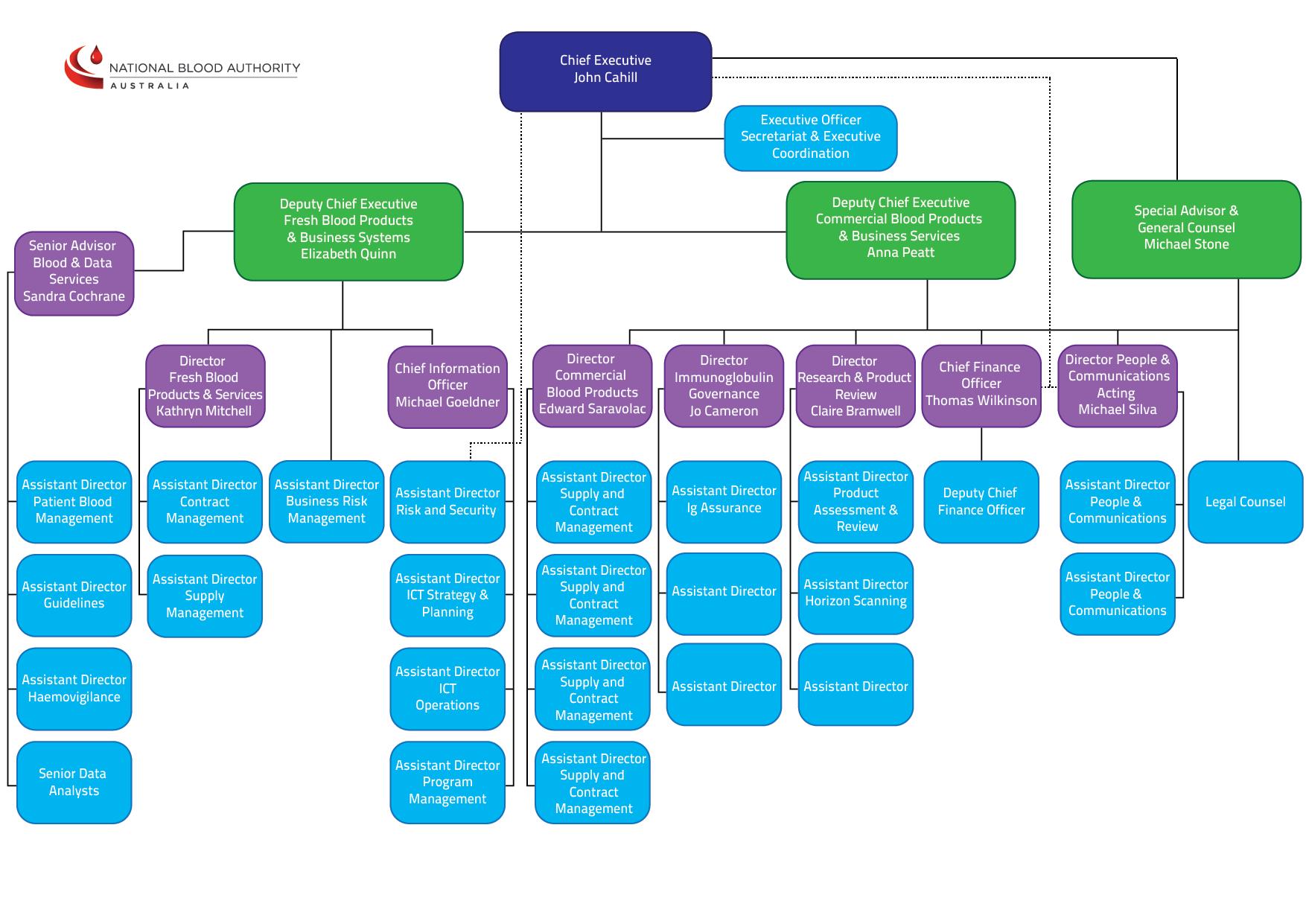 NBA Organisational Chart for Website