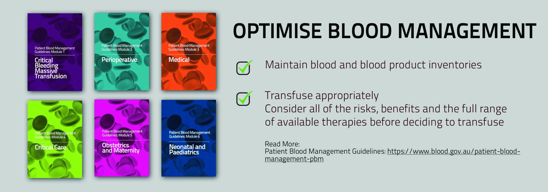 Optimise Blood Management banner