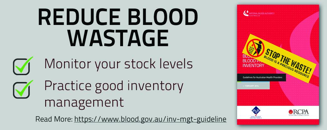 Reduce Blood Wastage banner
